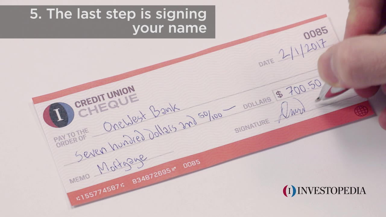 How to Write a Check in 6 Easy Steps | Investopedia