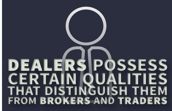 What is the job scope of a money market dealer?