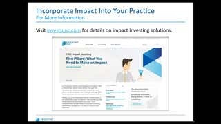 Envestnet co-founder Jim Lumberg takes part in a webinar on how to incorporate impact investing into your practice.