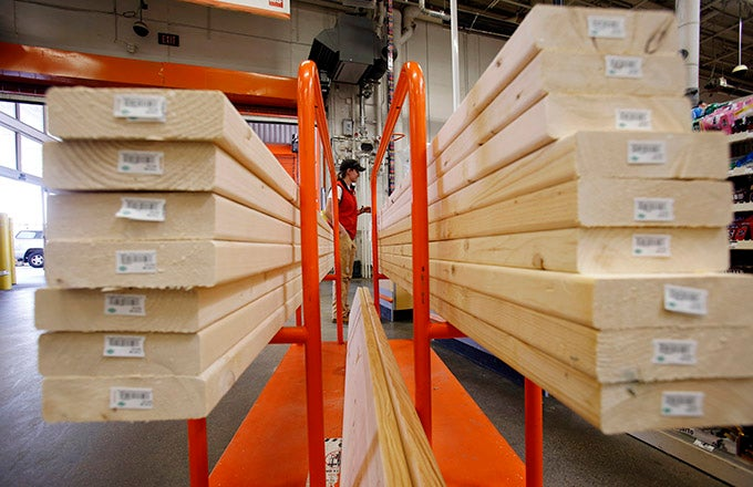 Where can you find Home Depot's lumber price list?