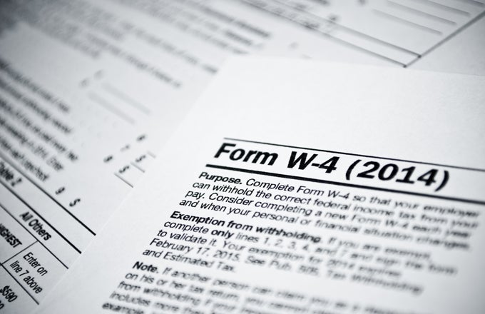 Filling Out Your W-4 Form