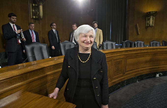 Fed's Yellen Risks Inflation Spiral ...