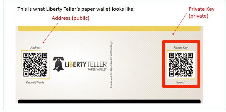 Liberty Teller paper wallet screenshot