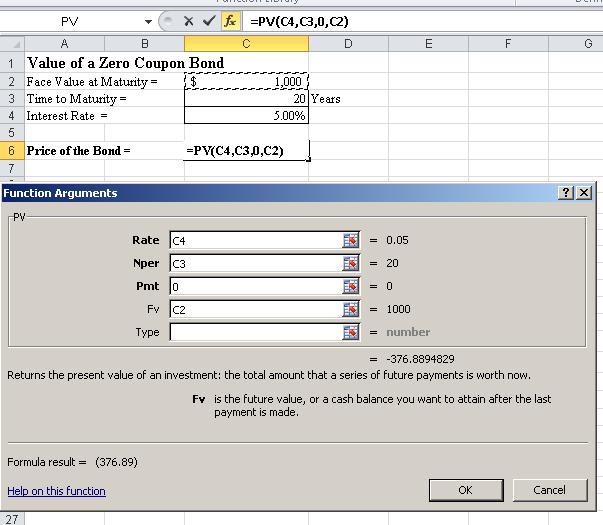 Present Value Of Different Bond Types Using Excel | Investopedia