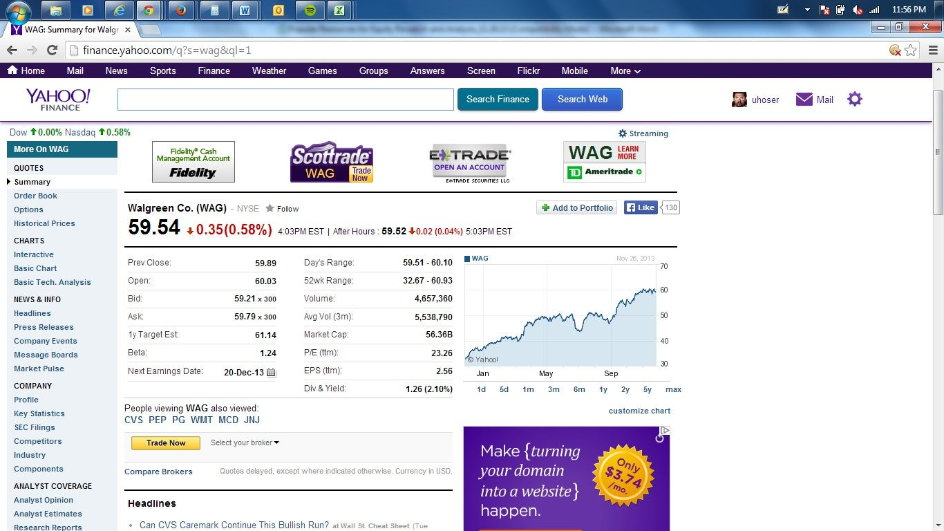 Yahoo Finance Stock Quotes Popular Resources For Equity Research And Analysis Chapter 4