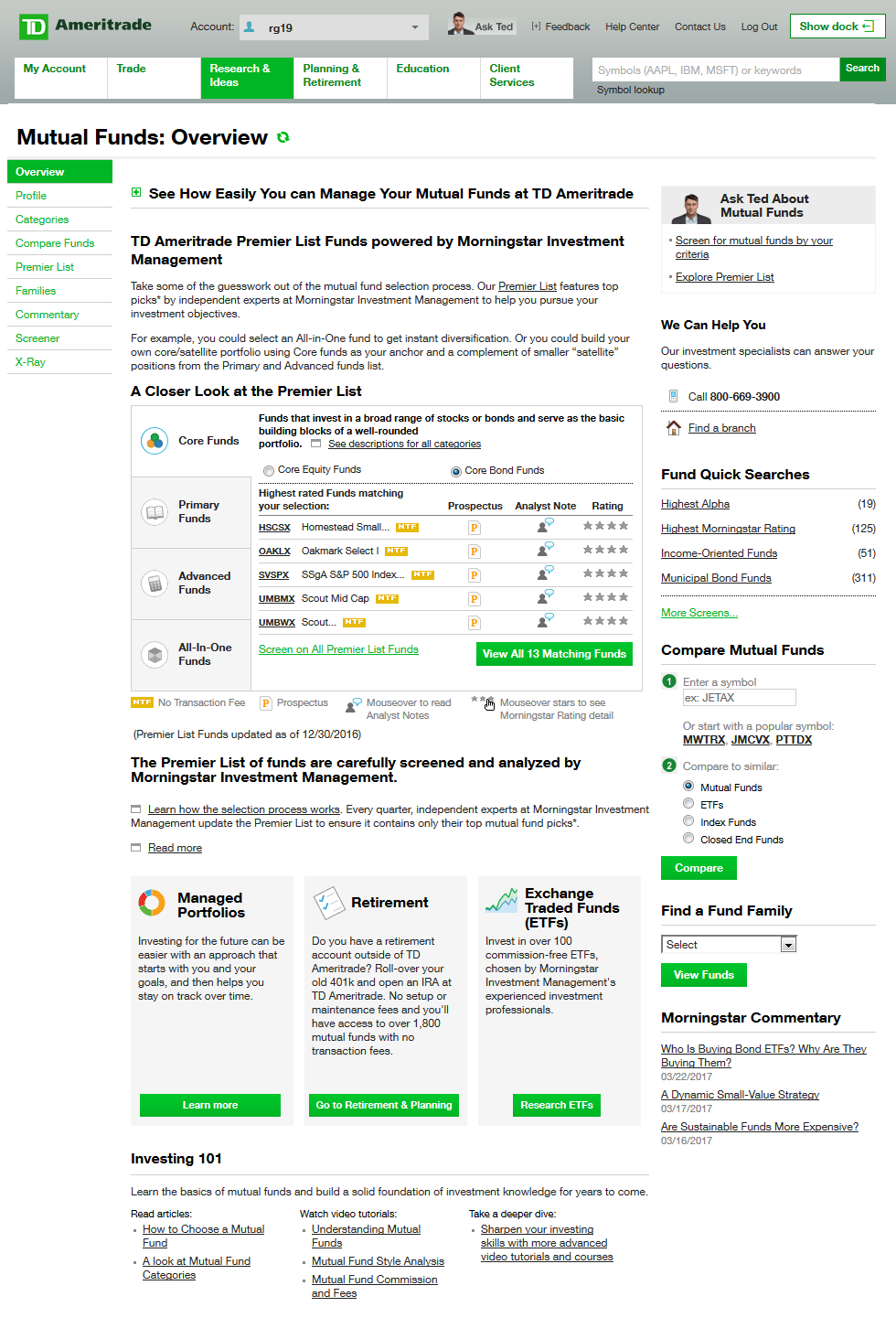 Td ameritrade platform walkthrough investopedia mutual fund investing biocorpaavc Images