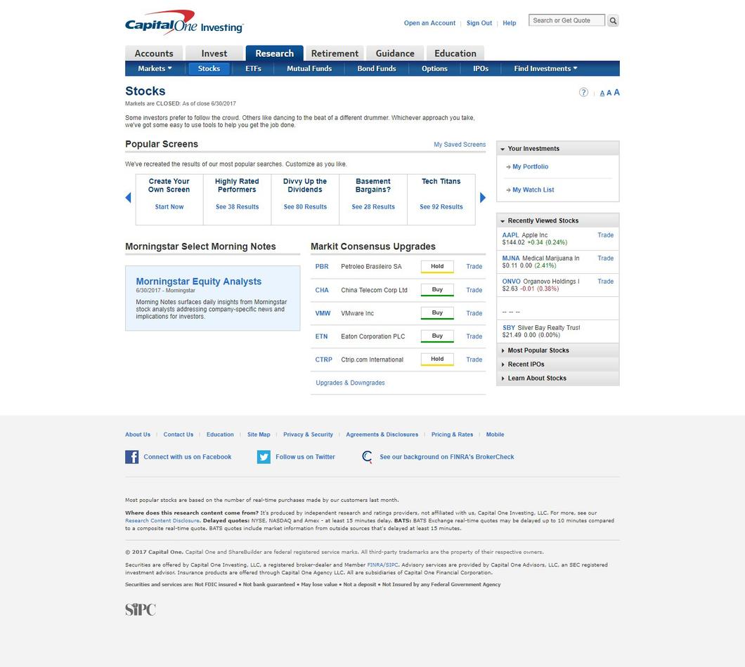Capital one investing platform walkthrough investopedia stock trading investing buycottarizona Gallery
