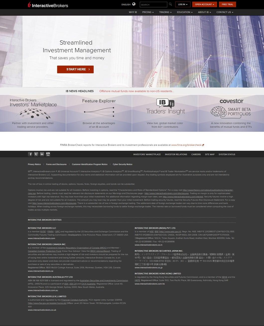 Interactive Brokers Platform Walkthrough | Investopedia