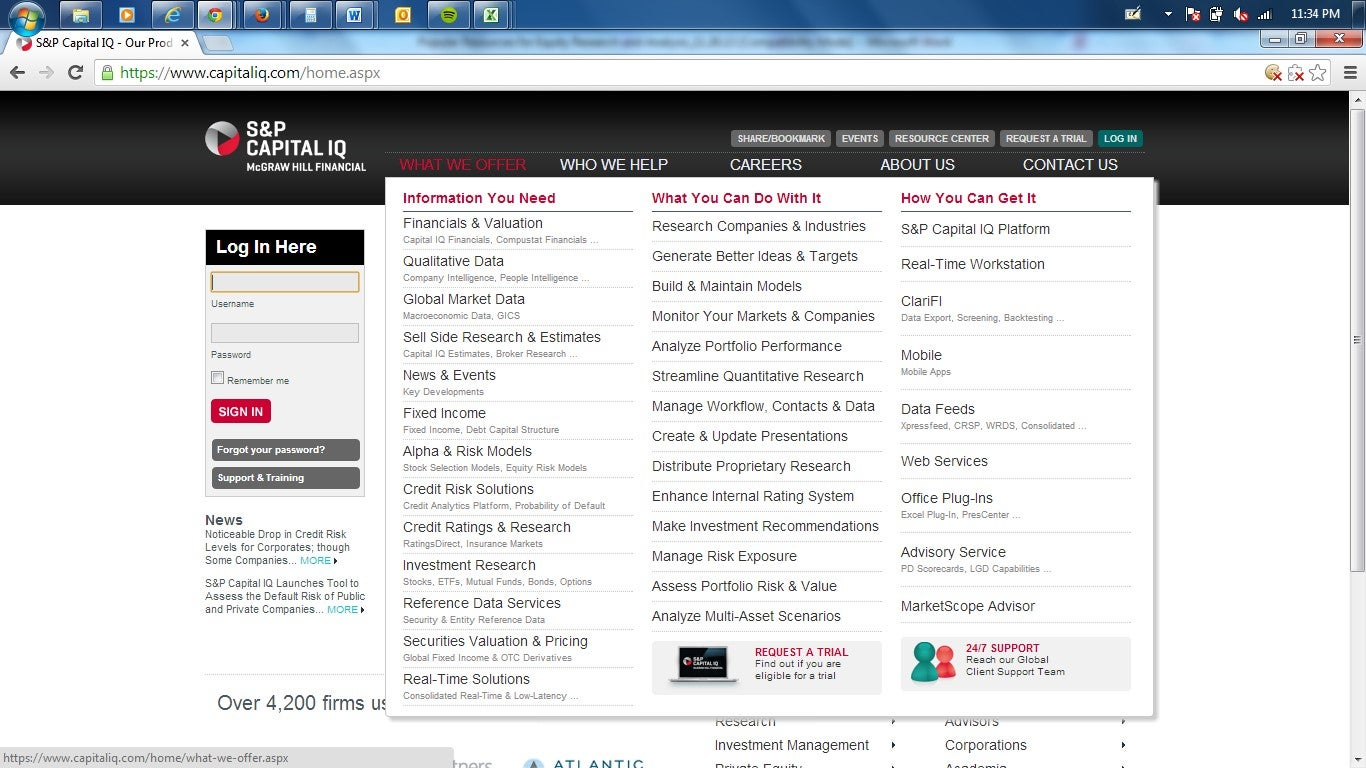 Popular resources for equity research and analysis chapter 9 capitaliq screenshot baditri Images