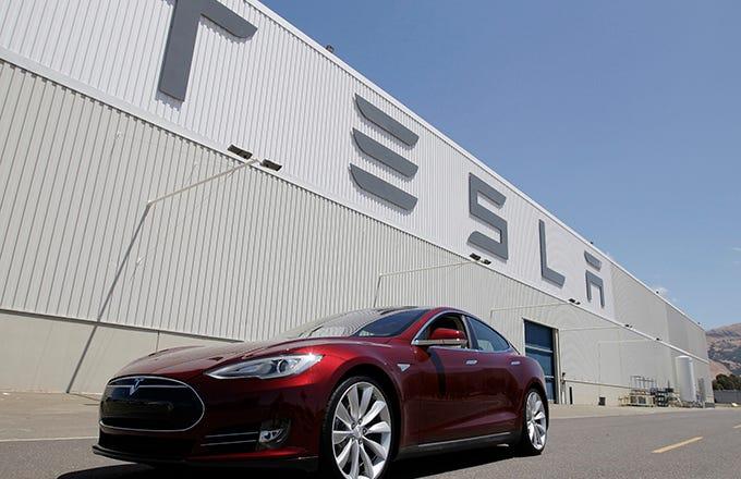 Imagini pentru Tesla traded company