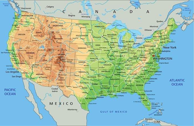 Map Us And Cuba Maps Of USA Give USCuba Thaw A Chance HuffPost - Cuba us map