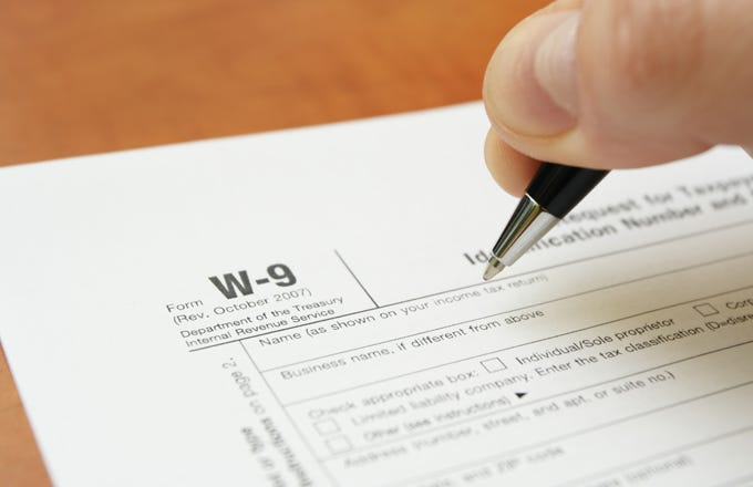 Filling Out The W 9 Form Investopedia