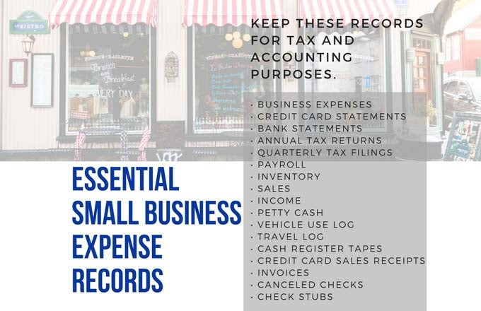 starting a small business record keeping