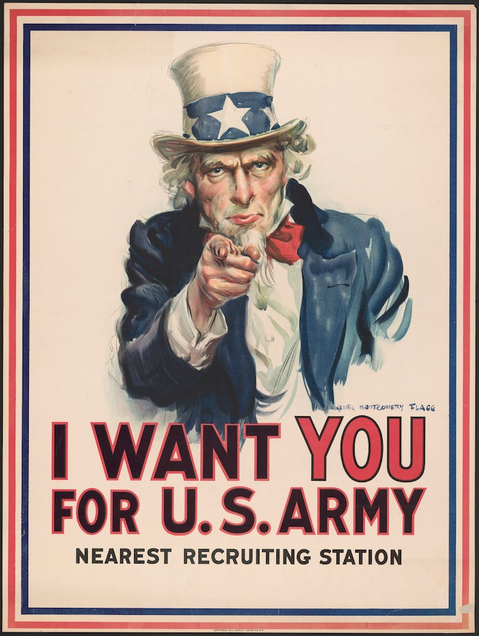 Uncle Sam 1917 Army recruiting poster