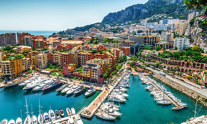 taxation in monaco Monte carlo (literally mount charles) is situated on a prominent escarpment at the base of the maritime alps along the french riviera near the quarter's western.
