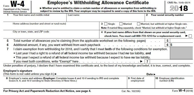 How to Fill Out Your W-4 Form | Investopedia