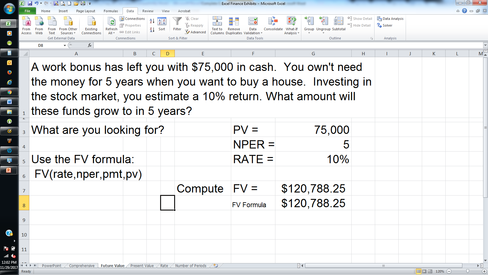 pv and fv functions in excel