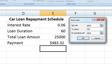 The Goal Seek Function In Excel