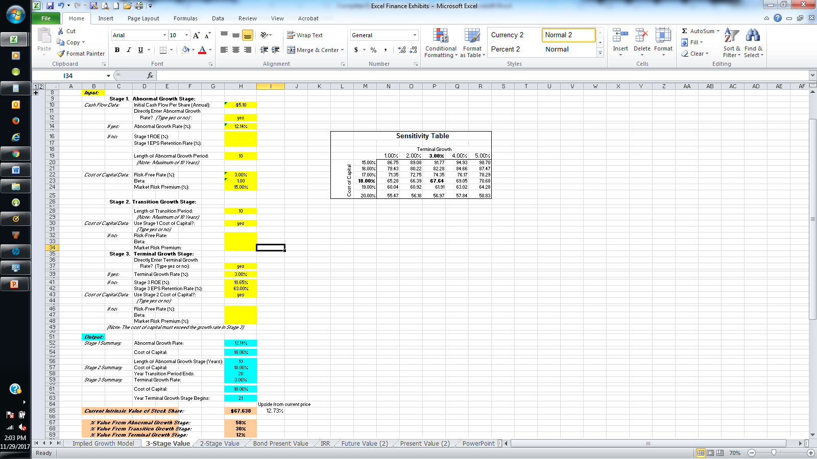 Valuation Methods In Excel