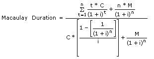 Bond duration definition.