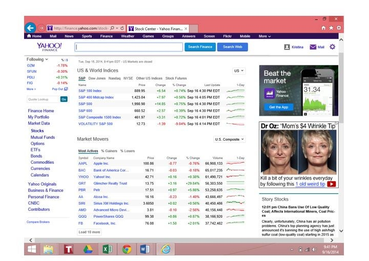 How To Use Yahoo Finance Investopedia