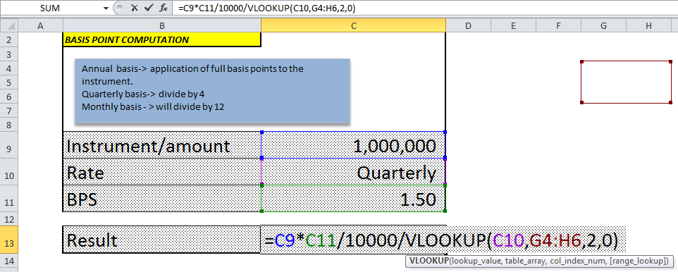 Calculating The Value Of Basis Points In Excel Investopedia